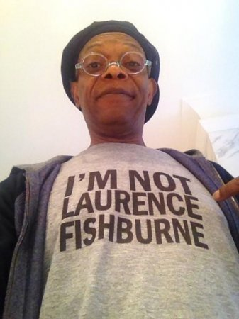 Samuel L. Jackson wears t-shirt saying he's not Laurence Fishburne