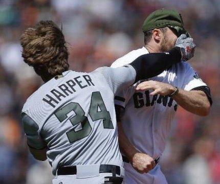 Breaking it down: Was Hunter Strickland, Bryce Harper brawl mishandled all around?