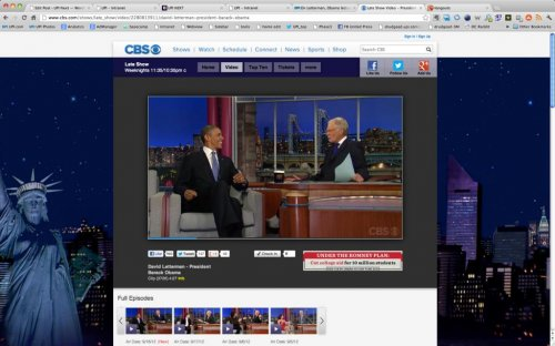 On Letterman, Obama lectures on democracy