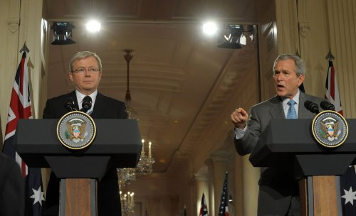 Rudd says there was no Bush 'G20' gaffe
