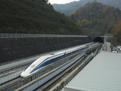 Japanese train travels at 374 mph
