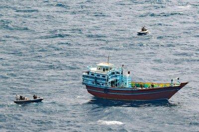 USS Winston Churchill crews seize illegal weapons off coast of Somalia