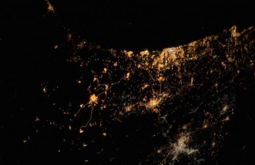 Explosions in Gaza, Israel seen from International Space Station