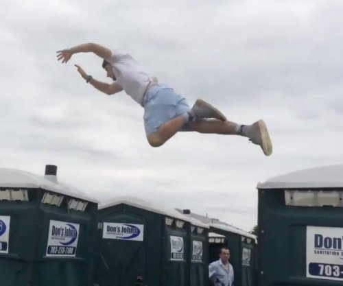 Preakness porta-potty roof racing is still a thing