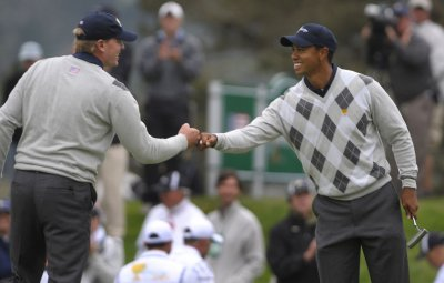 Woods, Stricker team for U.S. in Ryder Cup