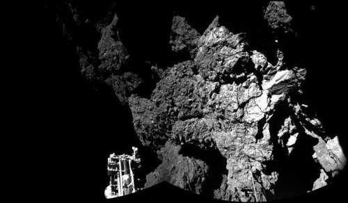 Philae lander bounced off target, in 'shadow of a cliff'