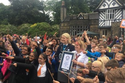 600 students dress as Harry Potter to celebrate 20th anniversary of 'The Sorcerer's Stone'