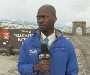 TV news reporter aborts segment to flee bison herd