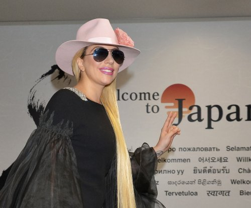 Lady Gaga channels 'Joanne' album cover in Japan