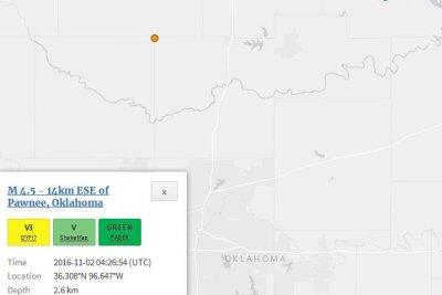 Cluster of seismic events strike shale-rich Oklahoma