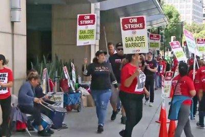 Marriott hotel workers go on strike in several cities across U.S.