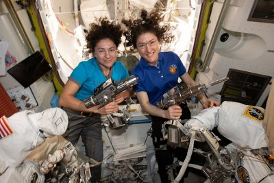NASA's Meir, Koch prepare to make history in first all-female spacewalk