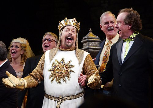 Lachey, Collins join 'Spamalot' cast