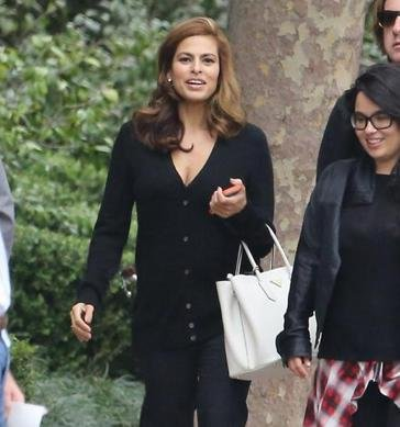 Eva Mendes steps out for the first time since giving birth