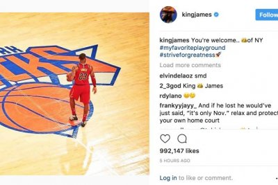 LeBron James disses New York Knicks, calls himself the King of New York