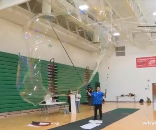 Ohio high school attempts largest indoor bubble record