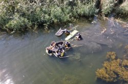 Dog, three humans rescued from Colorado lake