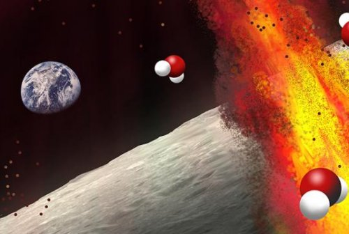 Astronomers detail additional evidence of water inside the moon