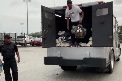 Jalen Ramsey arrives at Jaguars training camp in money truck