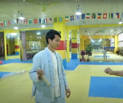 Martial artist uses nunchucks to light 21 candles in one minute