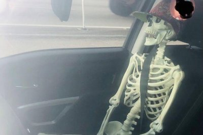Texas driver cited for using carpool lanes with skeleton passenger