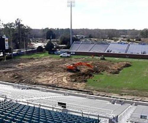 Coastal Carolina's teal turf project progressing
