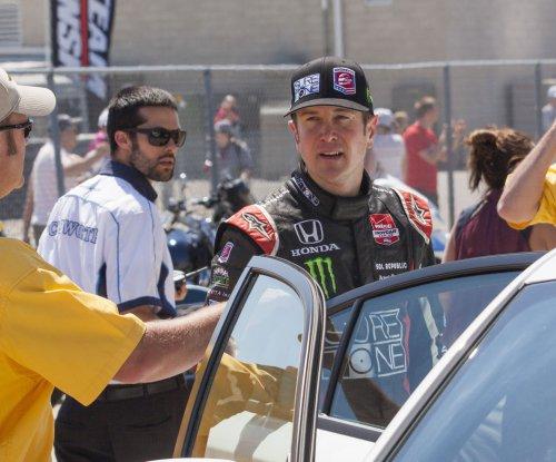 Busch wins Auto Club 400 pole, Harvick qualifies 2nd
