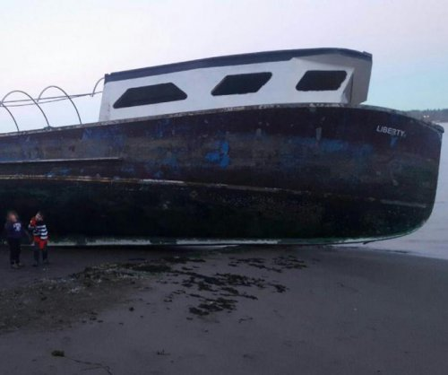 'Ghost ship' washes up on Washington state beach after months adrift