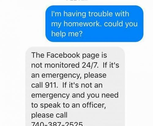 Ohio fifth grader asks police for help with math homework