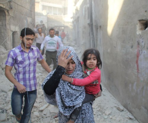 Number of Syrian refugees fleeing Aleppo doubles