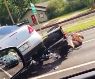 Car runs over motorcyclists in Florida road rage incident