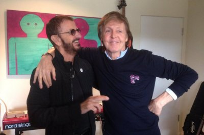 Ringo Starr and Paul McCartney reunite in the studio