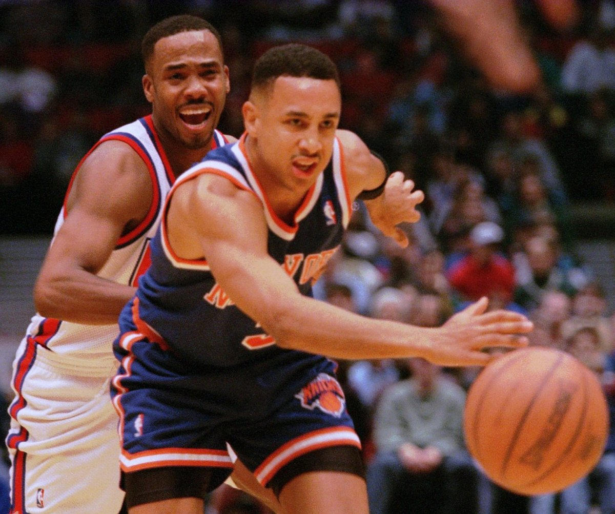 Ex Knicks John Starks and Anthony Mason open a Custom Fuel Pizza