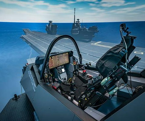 Simulator for F-35 naval test pilots ready to use