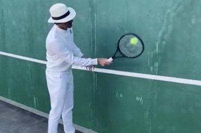 Lindsey Vonn, Sofia Kenin take Roger Federer's online tennis lesson