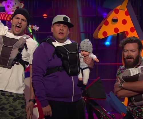 Ashton Kutcher, Danny Masterson form dad band with James Corden