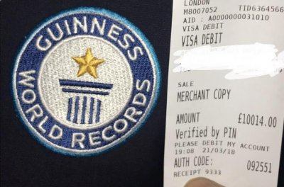 Bar sets Guinness record with $14,168 shot of cognac