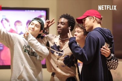 EXO's Suho, Kai teach 'Stranger Things' stars to dance in new video