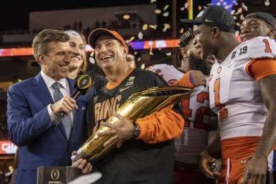 Clemson tops preseason coaches' poll for first time in program history