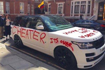 Range Rover worth $100k vandalized by apparent scorned lover