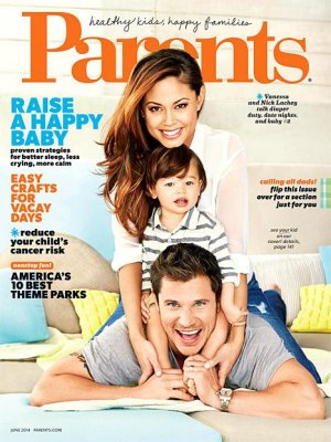 Vanessa Minnillo and Nick Lachey cover Parents magazine