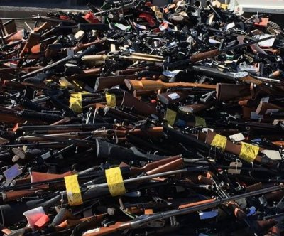 Farewell to arms: Los Angeles County sheriff melts down 7,044 confiscated guns