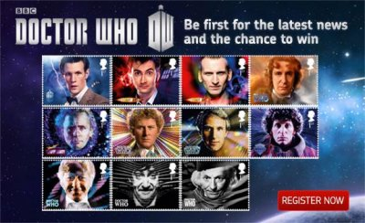 'Doctor Who' 50th anniversary postage stamps on the way