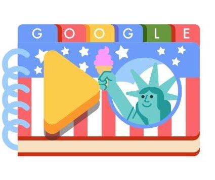 Google celebrates July Fourth early with recipe-based Doodle