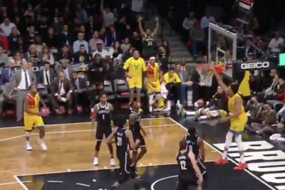 Giannis Antetokounmpo rebounds own 3-pointer, dunks on Nets