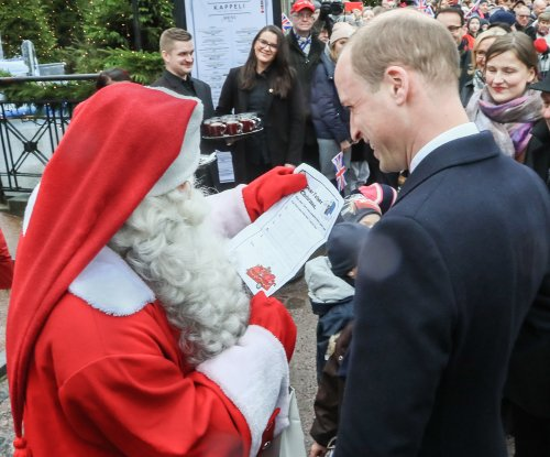 Prince William delivers son's letter to Santa in Finland