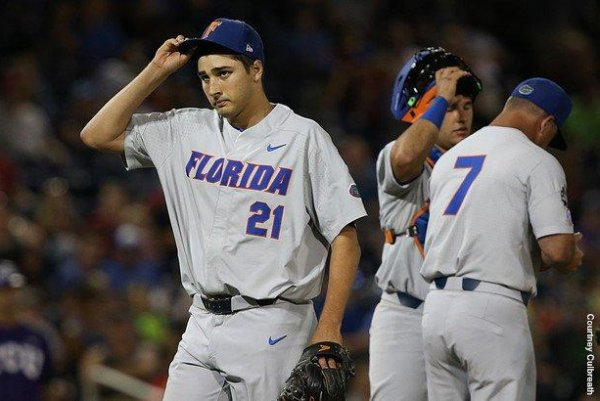 low priced 5dcad b4a0d 2017 College World Series: Alex Faedo pitches Florida Gators ...