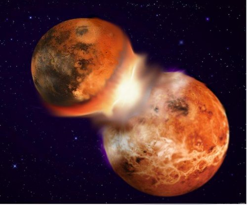 Moon formed when young Earth and little sister collided