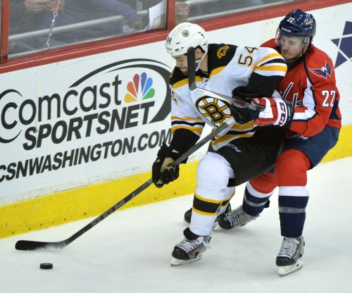 Boston Bruins' Adam McQuaid escapes serious injury
