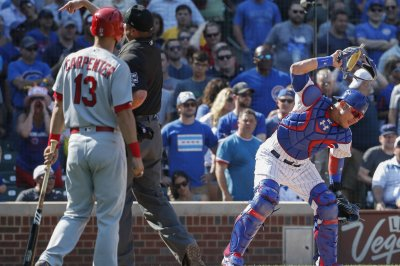 Chicago Cubs' John Lackey, Willson Contreras go nuts on umpire for calling ball